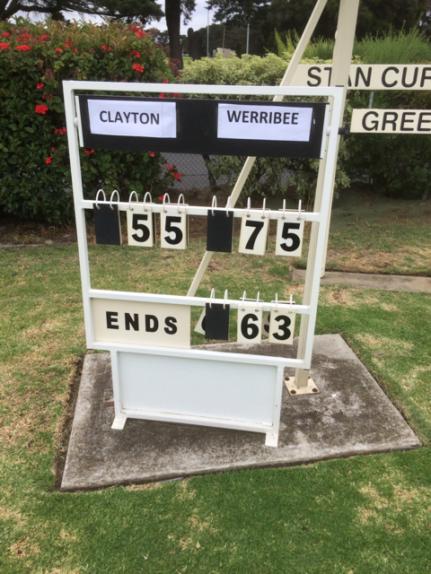 Pennant Div 1 winners 2018 scoreboard